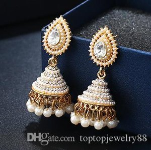 Wholesale Personality Drop Ear Studs Classic New Pearl Peacock Lantern Goddess Party Party Free Postage Fast Delivery