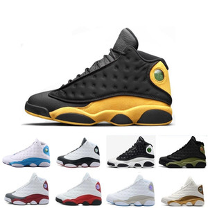New 13 Basketball Shoes air Men Women13s Wheat Wolf Grey all star Black Cat bred Brown Cap And Gown flints white j13 retro Sneakers