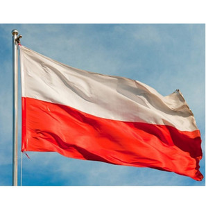 Wholesale polish flags resale online - 90 x cm Flag of Poland x5 ft Polish Flag Banner Poland Country National Flags Flying Hanging High Quality Polyester Printed