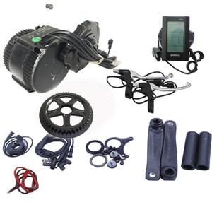 Wholesale kit ebike resale online - Bafang BBS02B V W Central drive motor BB MM MM MM size crank motor fun ebike mid drive motor kit with C965 C display