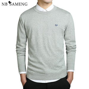 Wholesale Fashion New Fashion Men Winter Embroidery Sweaters O Neck Long Sleeve Knitted Sweatercoat Imported clothing Plus Size XL