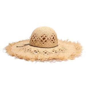 Wholesale Personality Fashion Summer Straw Hat Female Beach Wide Brim Visor Hat Unique Creative Casual Beach Cap