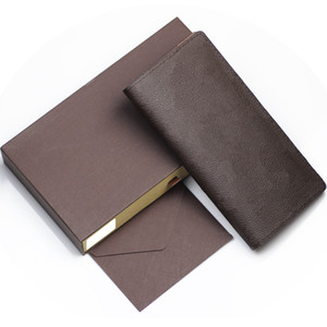 Wholesale leather walet for sale - Group buy Leather Women Wallet Female Long Clutch Lady Walet Portomonee Rfid designer wallet Men Money Bag Zipper Coin Purse With Box