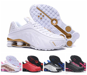 2019 Shox R4 Men Designer Shoes New colors Chaussures R4 Shoes Zapatillas Hombre Nz Man Trainers Tn Gold Rainbow Size Eur40-46 on Sale