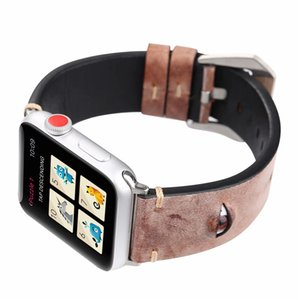 Wholesale for Apple Watch Band Leather Fashion Big D Eye Watch Band for Men Women Girls Accessories Sport Loop mm mm With Adapter Wrist Strap