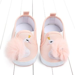 2019 Cartoon Animal Toddler Baby Girl Soft Princess Shoes Cute Pom Baby Shoes Infant Prewalker New Born Baby Moccasins for girls