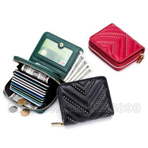 Wholesale New Arrival Designer Genuine Leather Wallet Card Holder Fashion Coin Purses Handbags Female Bag Multi Function Mini Wallets Cowhide Purse