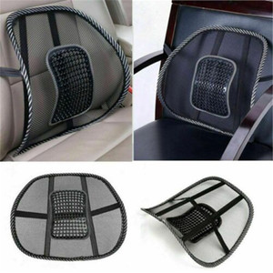 Wholesale 1Pc Mesh Lumbar Back Support Cushion Seat Posture Corrector Car Office Chair Home Supplies