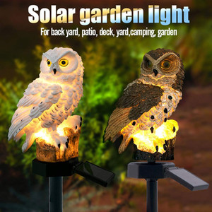 Solar LED Garden Lights Owl Shape Stake Light Solar-Powered Lawn Lamp Home Garden Decorative Outdoor Lawn Yard Lamp