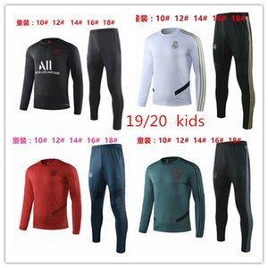 Wholesale PSG tracksuit new Paris Real Madrid Ajax soccer Training suit KIDS tracksuits MBAPPE LUCAS maillot de foot KIDS jacket kit