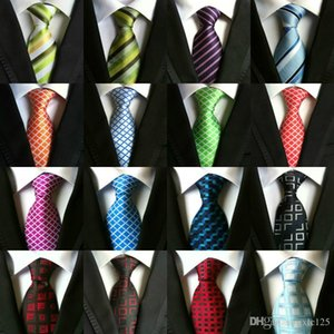 High Quality 8cm Men Ties Fashion Classic Neckties Handmade Stripes Plaids Dots Men's Business Ties Wedding Ties Silk Paisley Neck Tie