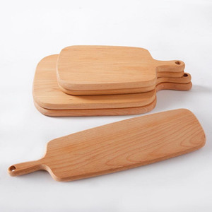 Wholesale Home Wooden Cutting Board Kitchen Chopping Block Wood Cake Sushi Plate Serving Trays Bread Fruit Pizza Tray Baking Tool LX5109
