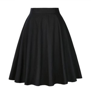 Wholesale sweet cherries resale online - Women High Waist A line Skirt Casual Sundress Solid Wave Dot Cherry Pleated Sweet Skiirts Plus Size XXL
