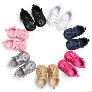 Wholesale New fashion young children s clothing baby boys and girls artificial PU soft bottom tassel sports shoes newborn