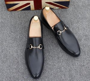 Men's Shoes Brand Genuine Leather Casual Driving Oxfords Flats Shoes Mens Loafers Moccasins Italian Shoes for Men 37-45 on Sale