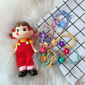 Japan and South Korea girl heart candy double layer bow hair circle elegant flower hair circle colorful headrope ornament hair ornament on Sale
