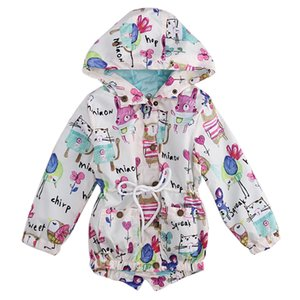 Wholesale New Arrival Children Boys Girls Autumn Long Sleeve Coats Graffiti Printing Cute Baby Lovely Coats Casual Zip Jackets Outerwear