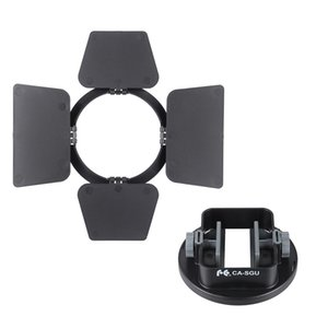 Universal Flash Adapter Bracket with Four-leaf Barndoor Accessory speedlite flash mount bracket
