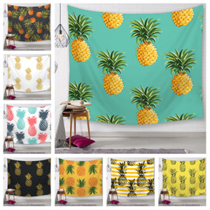 Wholesale 25 Styles Pineapple Series wall hanging Tapestry Digital Printed Beach Towels Bath Towel Home Decor Tablecloth Outdoor Blankes T2I5156