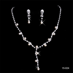 Wholesale 150 Hot Sale Holy Rhinestone Crystal Flower Earring Necklace Set Bridal Party Jewel Sets for Prom Evening Women