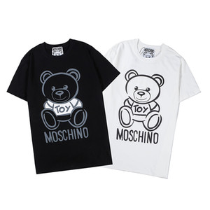 Wholesale Unisex Womens Mens Oversize Fashion T shirt Short Sleeve Shirts Tops Colors Print Bear Simple Style Chic Casual B103871Z