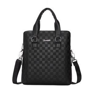 Mens Business Leather Briefcases Hand Office Male Messenger Bag Briefcase Document Laptop Computer Handbag Tablet Bussiness Briefcases