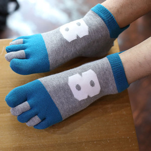 Wholesale 3 Pairs Men s Breathable Mesh Toe Colorful Toe Socks Cotton Five Finger Male Fashion Ankle Socks