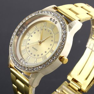 Wholesale 019 New Geneva Brand Women Watch Alloy Steel Metal Reloj Fashion Luxury Diamond Watches Quartz Wristwatches female ladies saati New