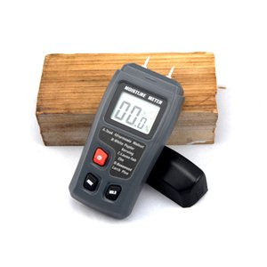 Wholesale Emt01 Two Pins Digital Wood Moisture Meter Wood Humidity Tester Hygrometer Timber Damp Detector Large Lcd Display T190625