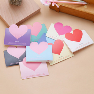 Wholesale 5pcs Mini Lovely Heart Envelope Paper Card Kawaii Chancery Korean Stationery Simple Love Wedding Party Invitation Card Envelope