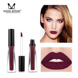 Wholesale MISS ROSE Brand Matte Lip Gloss Transparent Tube Easy To Wear Waterproof Liqiud Lipsticks Lips Makeup Beauty Party Colors