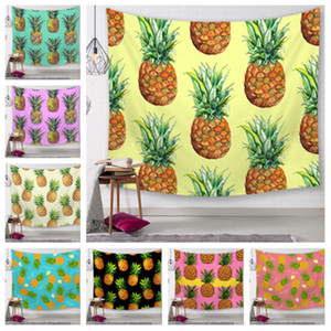 Wholesale new Styles Pineapple Series Wall hangingTapestry Digital Printed Beach Towels Bath Towel Home Decor Tablecloth Outdoor Blankets T2I5156