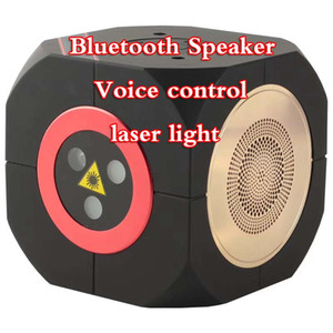 2019 new Mini Bluetooth Speaker Laser Light Voice-activated laser stage light Outdoor laser light family get together music three colors
