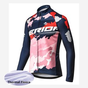 2019 MERIDA team cycling long sleeve jerseys bike clothing men and men Winter thermal fleece cycling wear clothes 53136