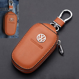 Wholesale Applicable To BMW Mercedes Audi Toyota Honda Buick Land Rover Car Keychain Car Leather Key Case