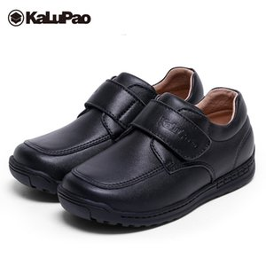 Kalupao Boys Leather Shoes Cow Muscle Outsole Breathable Anti Slip Autumn Spring Kids Boys Genuine Leather School Party Shoes Y190525 on Sale