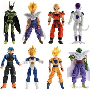 Wholesale 8pcs Dragonball Z Dragon Ball DBZ Joint Movable Action Figures Kids doll TOY gift NEW
