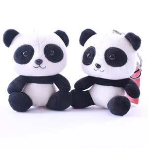 10cm Panda Flocking Animal Super cute panda dolls Plush Toys Stuffed Animals toy Valentine's Day present Best toys for children