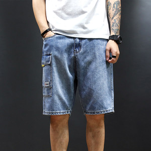 Wholesale Holes Designer Summer Shorts Jeans Mens Light Blue Short Jeans Ripped Casual Street Distressed Shorts