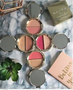 Wholesale becca resale online - 2018 NEW makeup Hot Sale Becca Blush with Highlighter Becca Double Blush Shimmering Powder Amaretto Flowerchild Hyacinth Pamplemousse