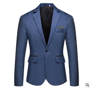 Wholesale Autumn and winter new pure color all around men s small suit Amazon hot sale large men s single row one button Blazer