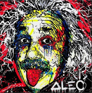 Alec Monopoly Amazing Graffiti art Albert Einstein Wall Art Home Decor Oil Painting On Canvas Large Picture 190923 on Sale