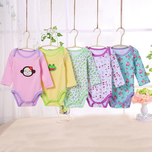 Wholesale New baby jumpsuit boys and girls four season clothing jumpsuit printing embroidery patterns set piece free delivery