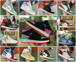 2020 New Travis Scotts X 1 High OG Mid Shoes 3.0 Cheap Royal Banned Bred Black White Toe Men Women 1s Not For Resale Fragment UNC Sneakers