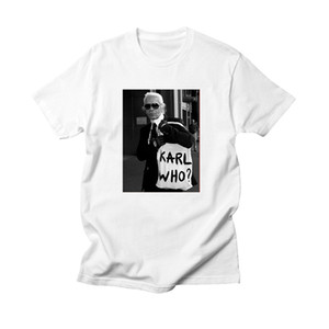 New Arrivals Karl Women Men Tops Ladies T-Shirt White KARL WHO Tumblr T-shirt Women Purecotton Ropa Vintage Camisetas Mujer 2019