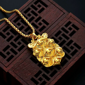Wholesale gold talisman for sale - Group buy Fashion amulet pendant necklaces for men women luxury gold talisman pendants alloy fashion necklace jewelry gifts for family