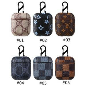Wholesale Luxury PU Leather for Airpods Case Protective Cover Hook Clasp Keychain Anti Lost Fashion Earphone Protector