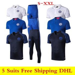 19 20 new CHELSEAFC ABRAHAM Polo shirts jersey 2019 2020 white MOUNT soccer tracksuit PULISIC KANTE men short sleeve T shirt set S-XXL on Sale