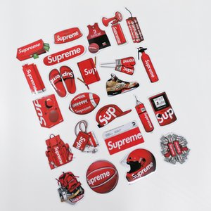 Wholesale 24 in 1 sup suitcase sticker personality popular logo laptop skateboard guitar refrigerator car waterproof 3M sticker