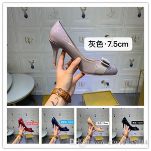 Wholesale With box New Bottoms Luxury Designer High Heels Round Pointed Toe Pumps Women Wedding Dress Shoes Drop Ship Mid Heeled Shoe